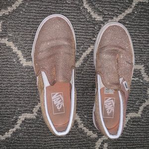 Sparkly pink vans, only worn a few times!